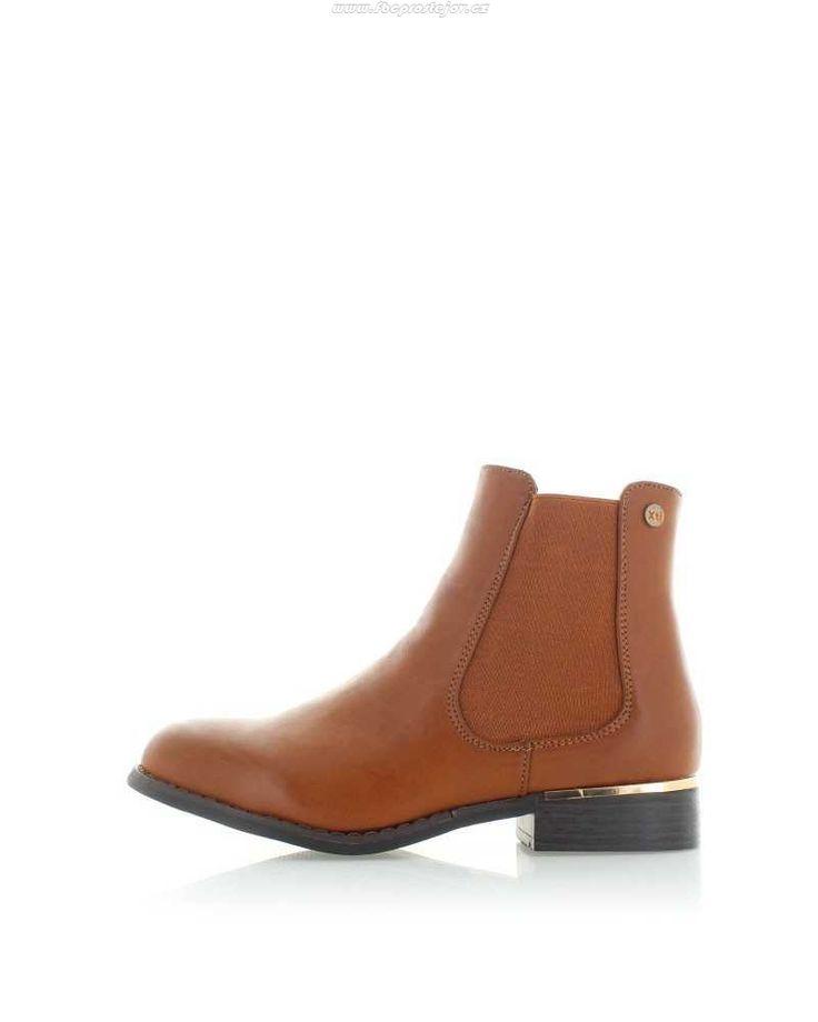 Skořicové kotníkové kozačky XTI 46374 - Dámska obuv - skořicová qnvo207o0fw6