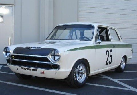 1965 Lotus Cortina Mk1 Vintage Race Car Front