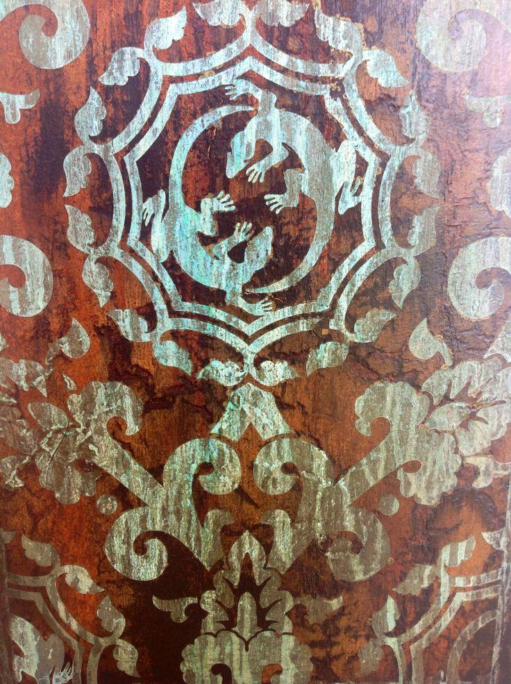 Canvas art close up
