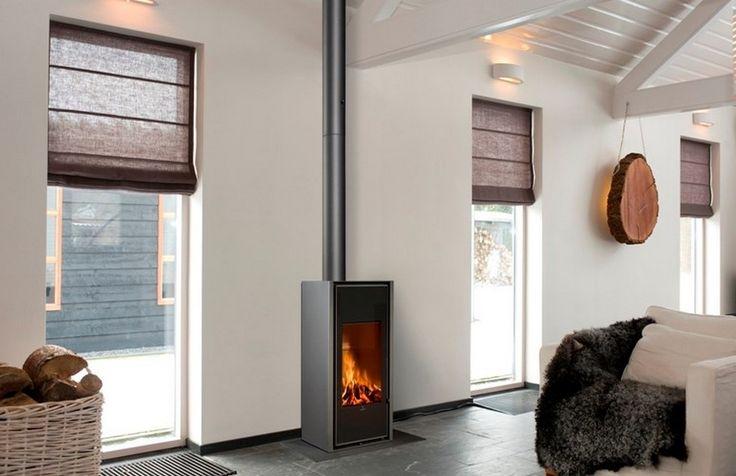 Free Standing Indoor Wood Burning Fireplace - Home Design ...