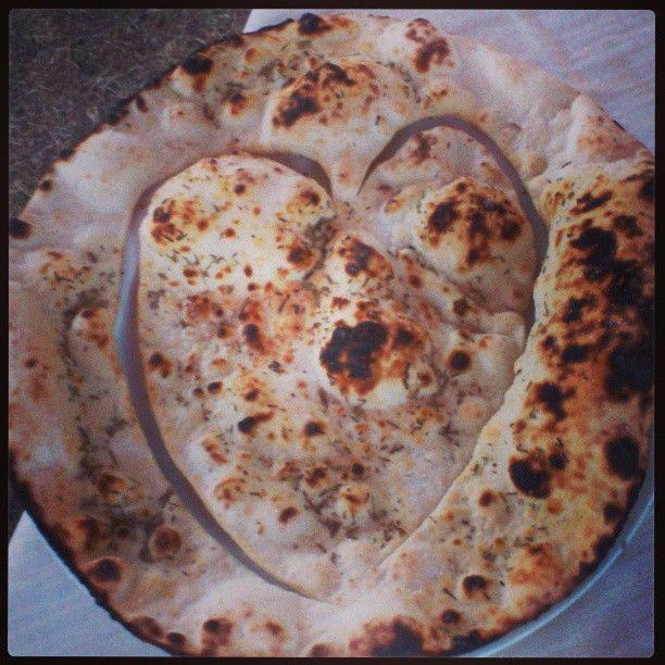 A romantic pizza