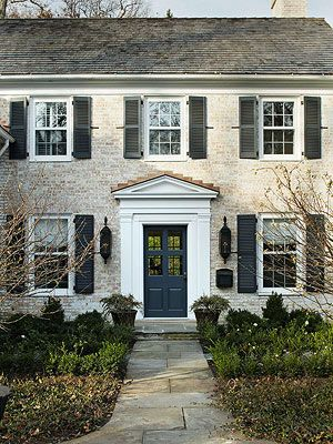 These colors for the house exterior paint, door, and shutters. 11 Ways to Add Color to Your Home's Exterior