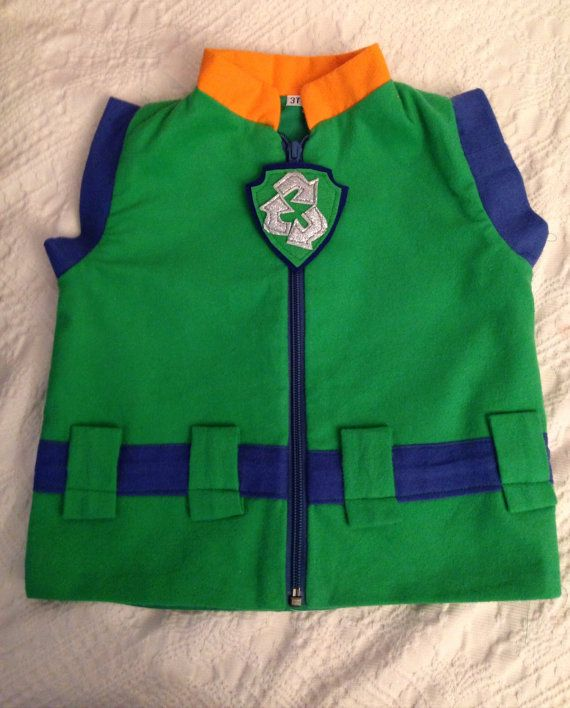 Rocky paw patrol inspired vest costume  https://www.etsy.com/listing/248041842/paw-patrol-rocky-vest-flannel-new?ref=listing-shop-header-1