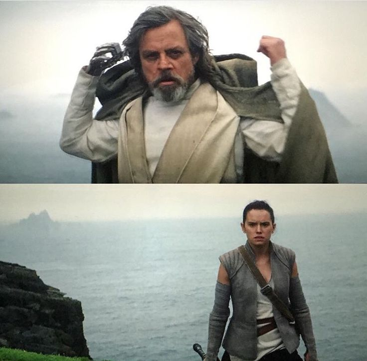 Rey meeting Jedi Master Luke<---I really think he's her father!