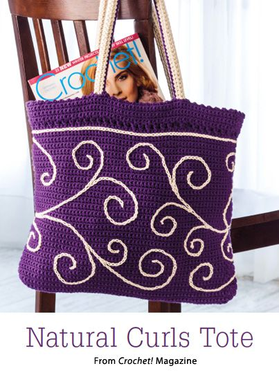 Natural Curls Tote from the Spring 2015 issue of Crochet! Magazine. Order a digital copy here: https://www.anniescatalog.com/detail.html?code=AM22158