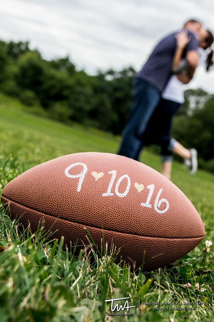 Football Themed Engagement Session | Timothy Whaley Photography | www.twaphoto.com
