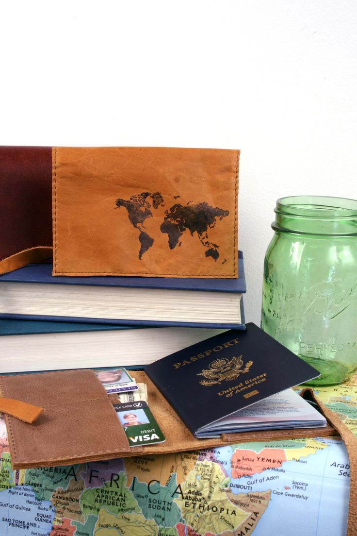 49 best in blue handmade images on pinterest leather diary world map leather passport cover free customization gumiabroncs Choice Image