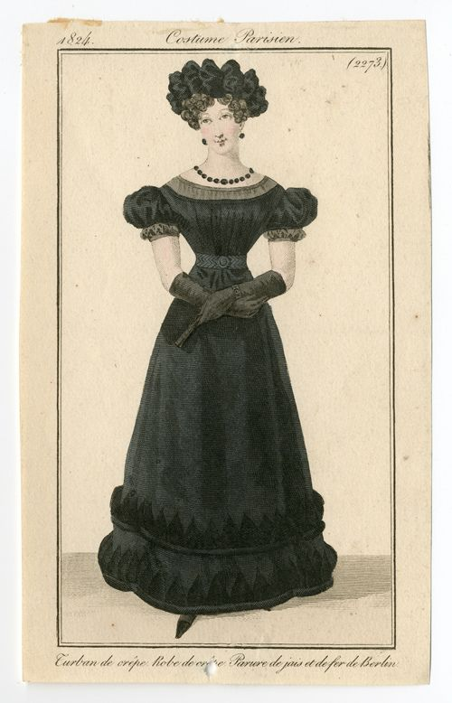 Death Becomes Her :: Victorian Mourning at the MET on Haute Macabre Fashion Plate, 1824