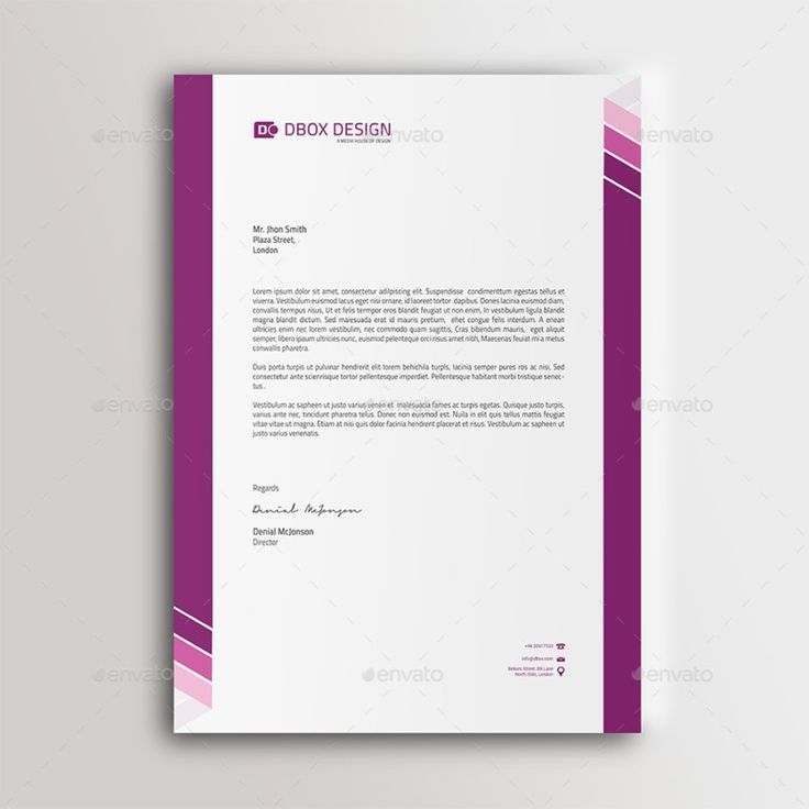 letterhead in business letter
