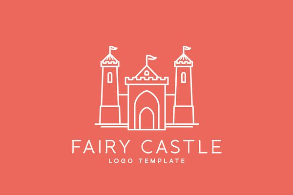 Line Style Vector Castle Logos by createvil on Creative Market