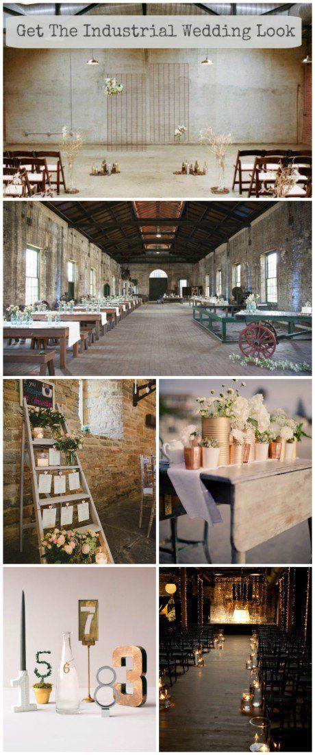 One of the most popular styles of weddings right now is the industrial wedding look. From getting married in a warehouse to decorating your wedding with mixed metals, the industrial wedding style is a favorite of brides because of its versatility and its minimalist chic feeling.