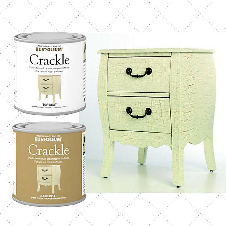 Rust-Oleum Crackle paint.  Create vintage looking furniture.