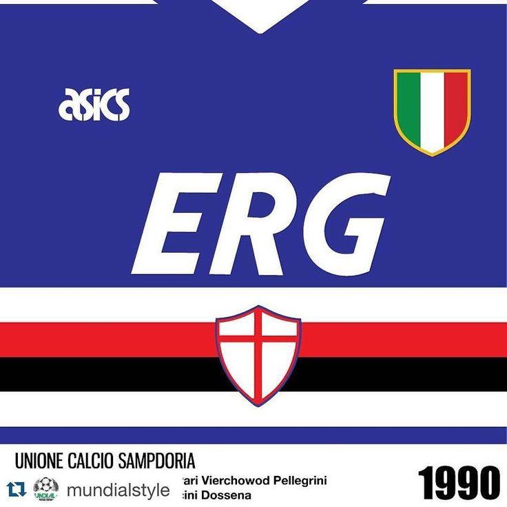 repost 1990 sampdoria shirt from wallkits football