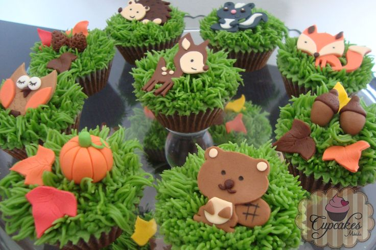 Forest animals cupcakes | Cupcakes | Pinterest | Animals ...