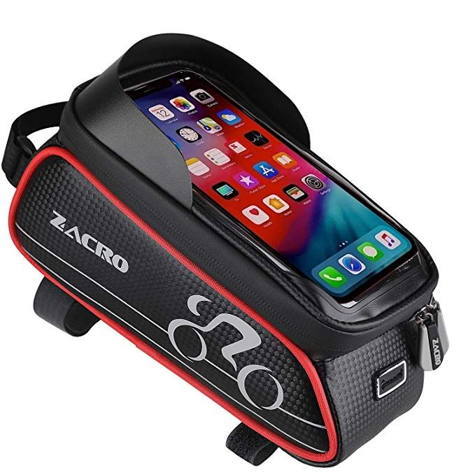 Waterproof Cycling Bike Front Top Frame Pannier Tube Bag Mobile Phone Case Pouch