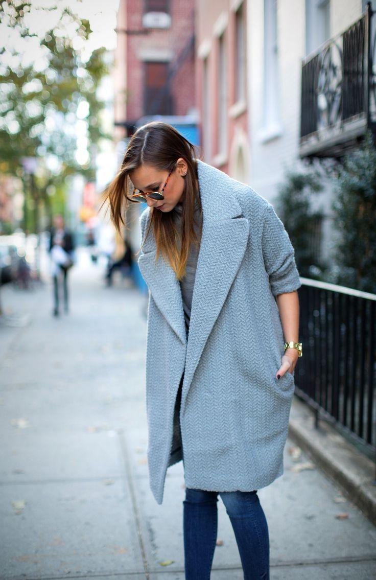 great grey topper. #DanielleBernstein in NYC. #weworewhat