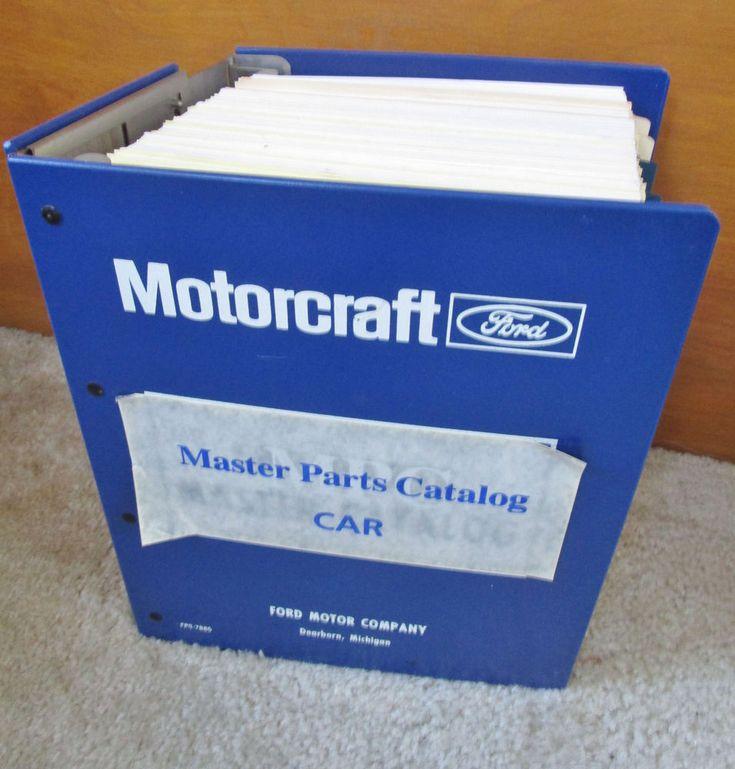 Motorcraft Ford Master Parts Catalog Car 1973-79 Part 1 Read description #motorcraft #ford #mechanic #autoparts
