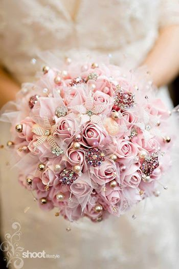 gorgeous blingy bouquet  Strictly Weddings