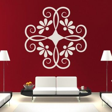 Curly Floral Decorative Wall Art Stickers Wall Decal   Floral Designs    Floral U0026 Trees   Part 94