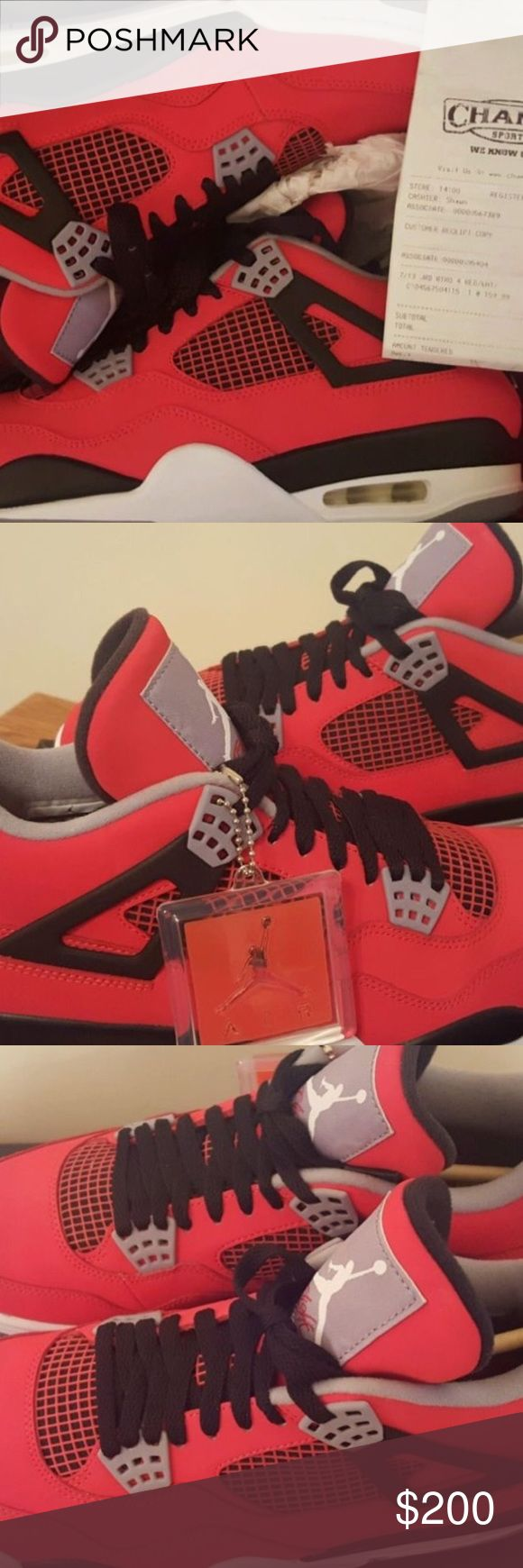 Jordan Retro 4 Red If interested text me on here for details, & discuss further through email or text message! Jordan Shoes Sneakers