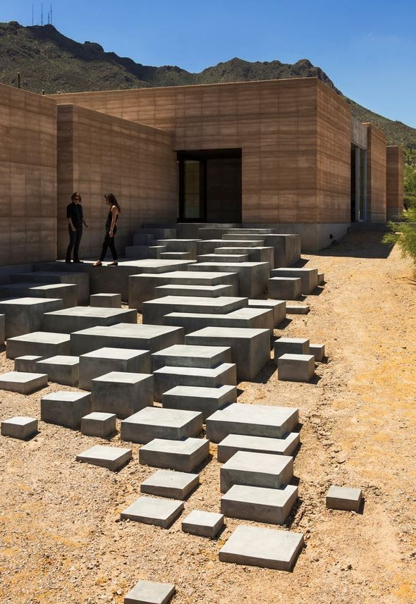 Stairs of Sonoran desert home. Beautiful photography of an interesting desert…