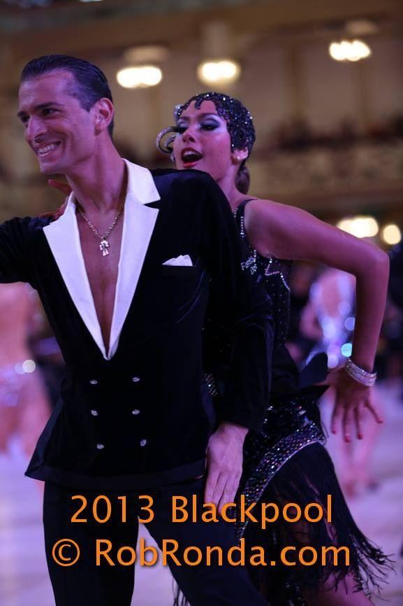 Blackpool Dance Festival 2013 - Amateur Latin | Blazer style with white lapels