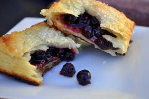 Saskatoon Berry Hand Pies with amazing flaky pastry | by Sandie at Crumbs of Love