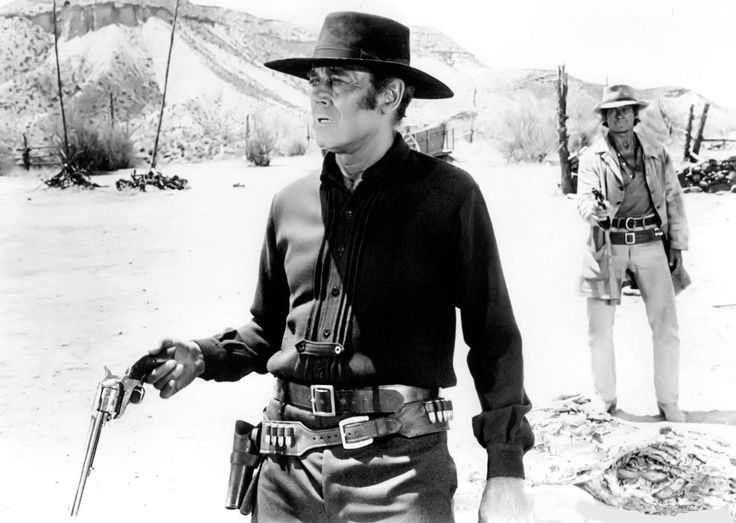 "Henry Fonda and Charles Bronson  ""Once Upon a Time in the West""...  dir. Sergio Leone, 1968."