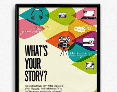 Young writers award poster