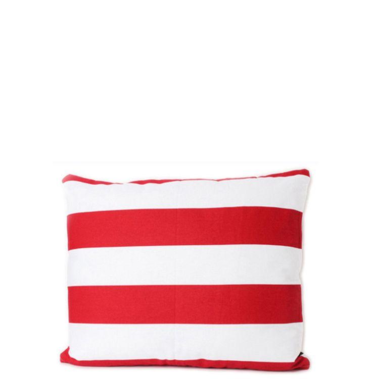 Summer Red White Stripes Cushion