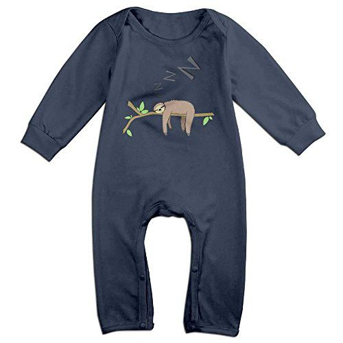 Sleeping Sloth Cartoon Climbing Clothes 6-24 Months Long Sleeve For Kid 24 Months