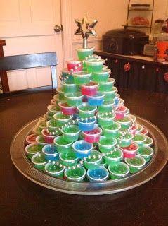 Jello Shot Christmas Tree and great site for jello shot recipes!
