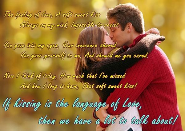 Romantic Happy Kiss Day wishes for Bf