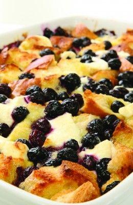 Wish Farms - Recipes - Blueberry Breakfast Casserole @wishfarms @freshfromfl #wishfarms #freshfromfl