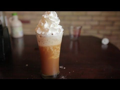 How to Make a Carmel Frappe : Making Coffee