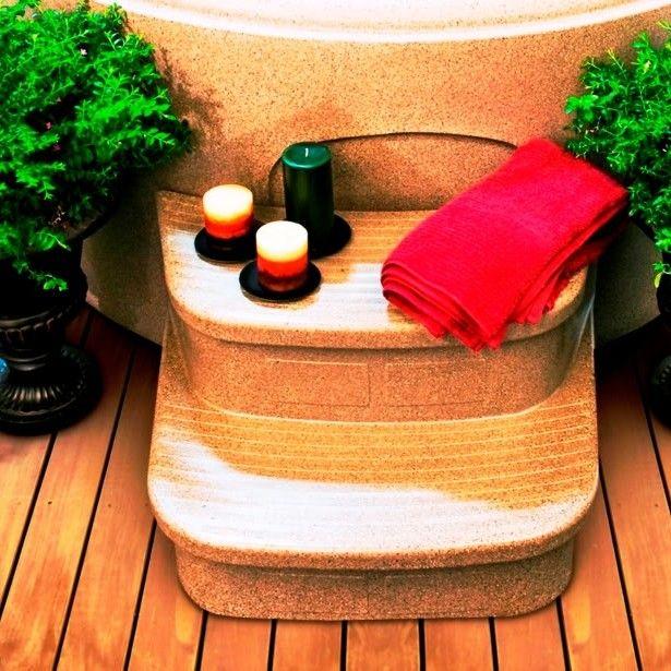 lifesmart sandstone spa steps for the luna rock spa u0026 reviews wayfair hot tubsspas - Wayfair Hot Tub