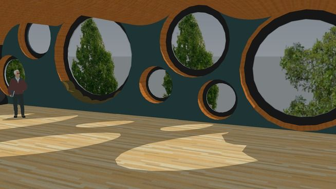 Large preview of 3D Model of Circular Building Concept