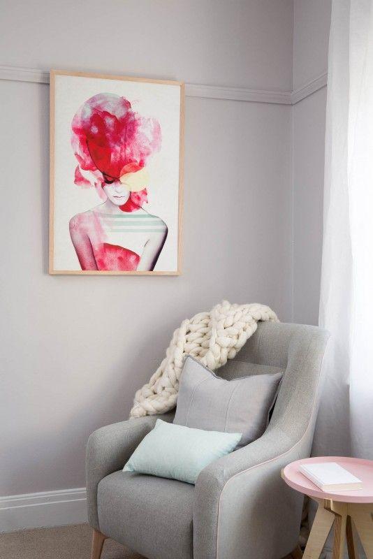 jenny liz rome print bright pink part 2 61x91cmthe block shop channel 9