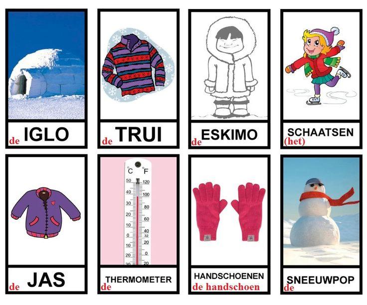 ⛄ Woordkaarten : winter (3)