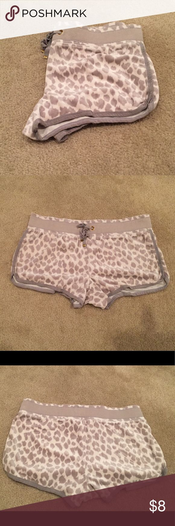 ❄️🐆 snow leopard velour shorts VS snow leopard pj shorts Victoria's Secret Intimates & Sleepwear Pajamas