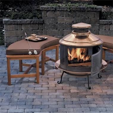 Curved fire pit bench skymall patio pinterest fire pits privacy walls and the o 39 jays Fire pit benches