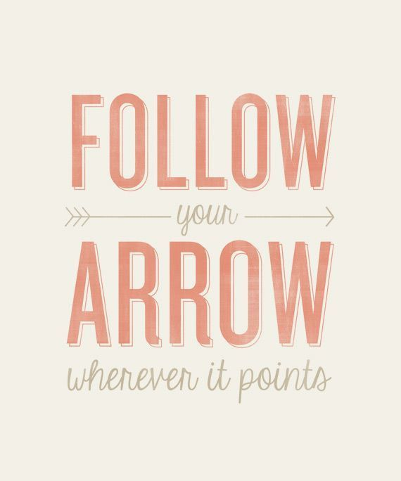 Follow Your Arrow - 8x10- Rustic - Vintage Style - Typographic Art Print - Country Song Lyrics via Etsy