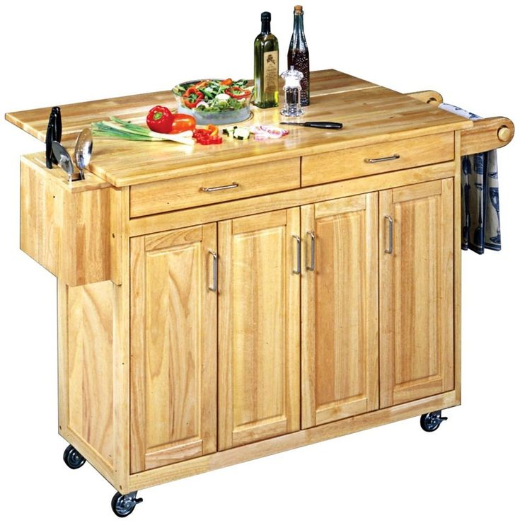 92 best pantries storage images on pinterest pantries for Home styles natural kitchen cart with storage