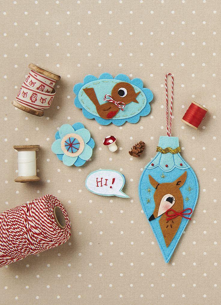 Retro bauble Christmas tree decorations ideas- Mollie Makes