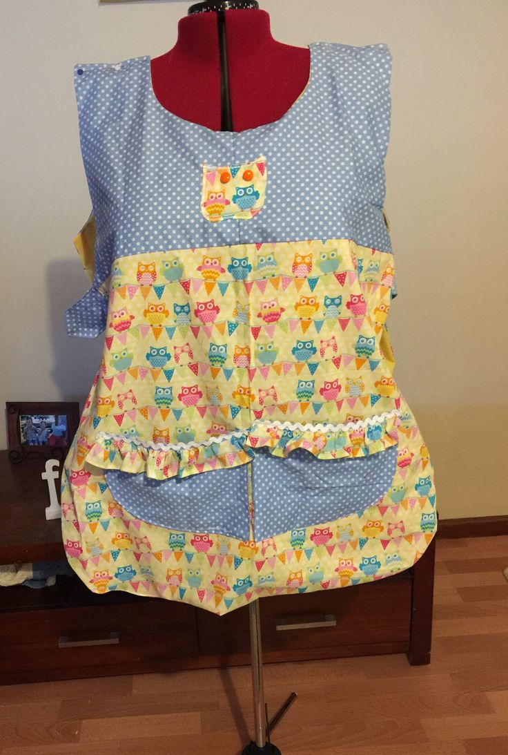 Pinafore style Apron made from scraps.