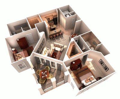 As Plantas de casas em 3D grátis são bastante procuradas pelas pessoas, explore alguns modelos que podem servir como referência na hora de construir a casa.