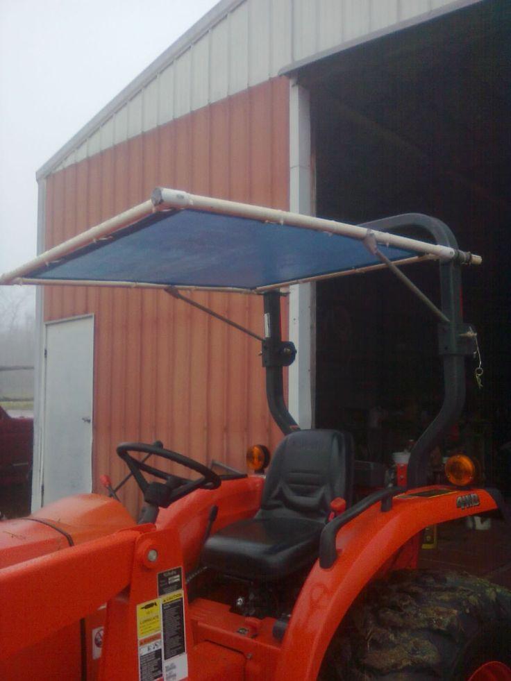 diy tractor canopy
