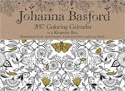 Johann Basford Colouring Calendar 2017 Review Is Here