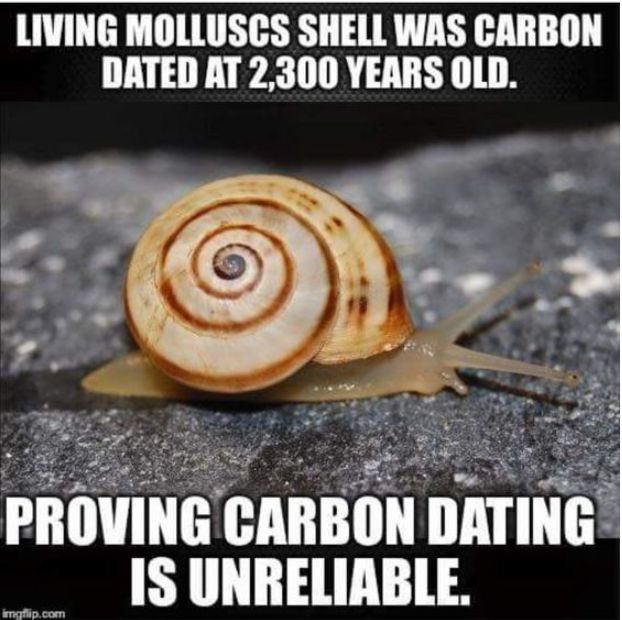Proof that carbon dating is wrong