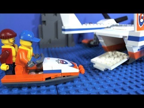 LEGO Coast Guard Sea Rescue Plane Stop Motion Build